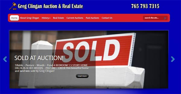 Greg Clingan Auction Real Estate